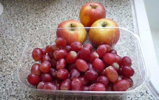 Fruits and vegetables without rind