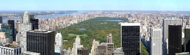 Panorama of the north of Manhattan, from the Rockefeller Center, New York