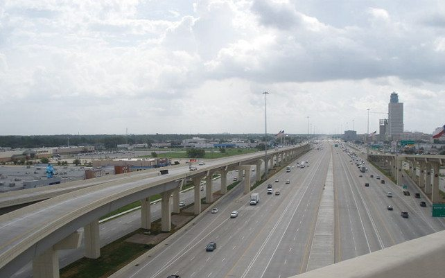 Katy Freeway in Texas, America