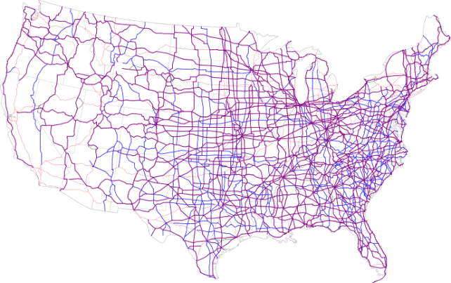 Map of current US Routes