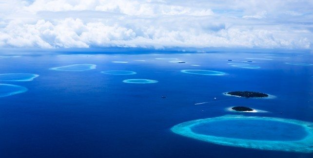 Islands In The Maldives seen from above