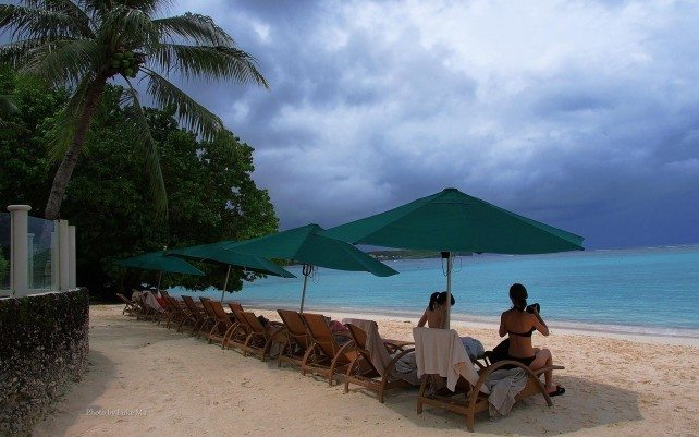 beach of the Westin Resort, Tumon Bay, Guam, USA